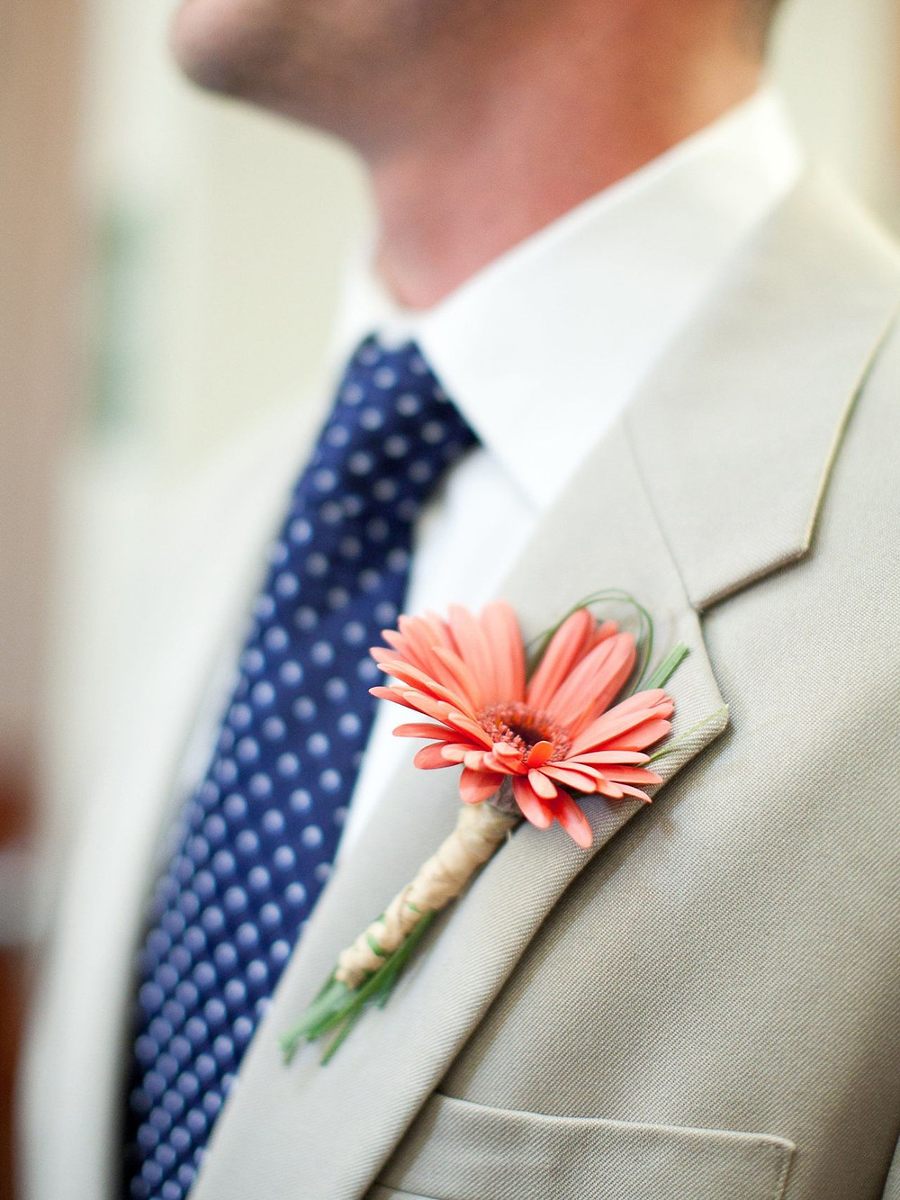 Pantone Color of the Year 2019 Wedding Boutonniere