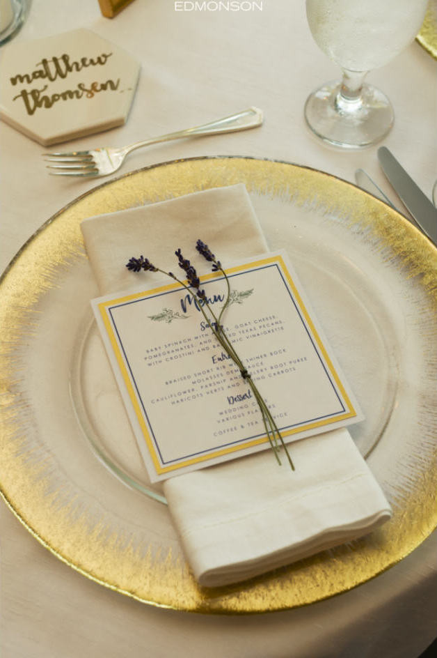 Wedding table top setting