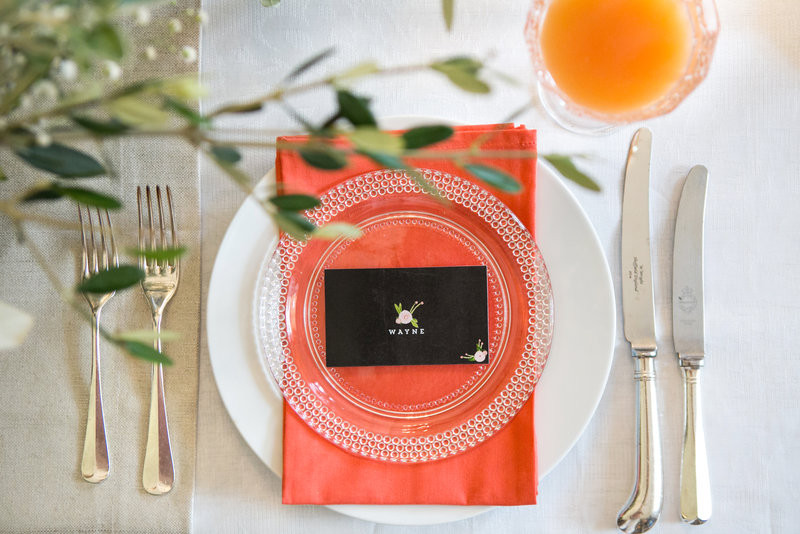 Pantone Color of the Year 2019 Living Coral wedding table decor