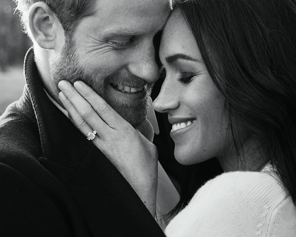 Prince Harry and Meghan Markle engagement photo candid