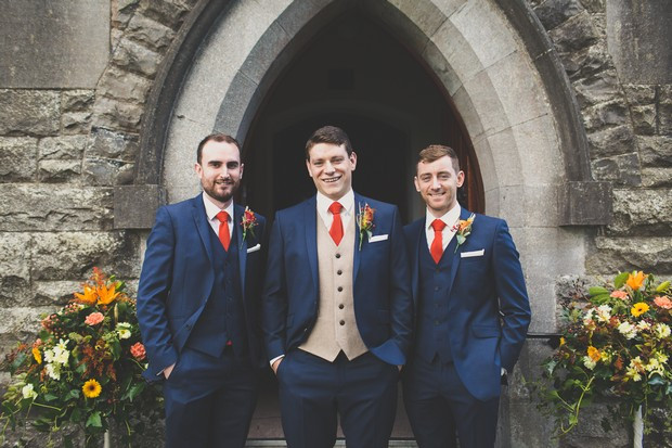 Groom with different colored vest