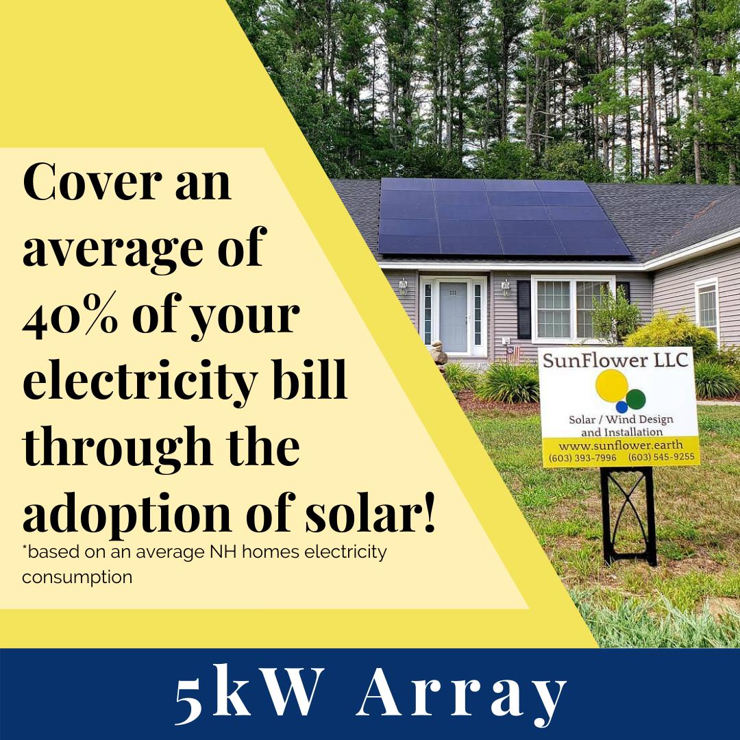 5kW Solar Array w/ SunFlower LLC