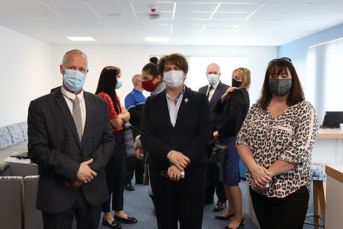 Gary Kelly with Arlene Foster and Michel