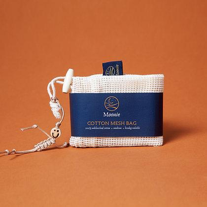 Cotton Mesh Produce Bag + Neil Charm