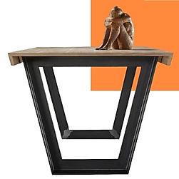 Tavolo in legno e metallo di design