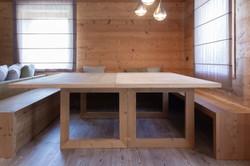 Tavolo sdoppiabile aperto