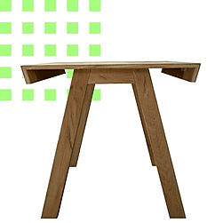 scrivania in legno di rovere