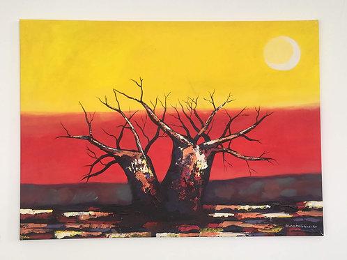 Original Artwork - Baobab Sunset by Brian Mandizira