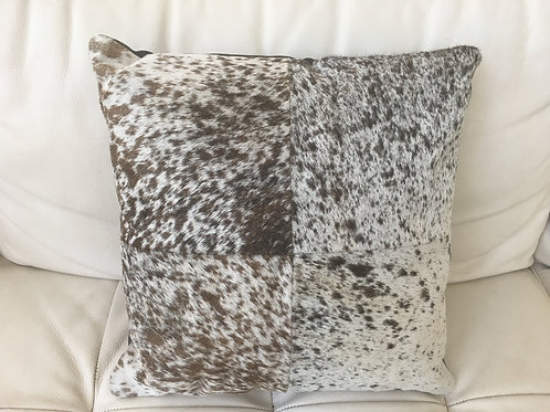 Zimbela Nguni Speckled Patchwork Cushion Cover