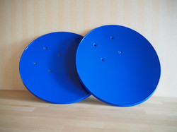 Sat Powder Coated Blue 2