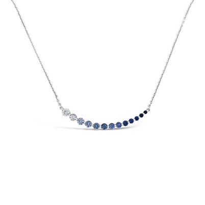 Blue Sapphires Gradient Necklace