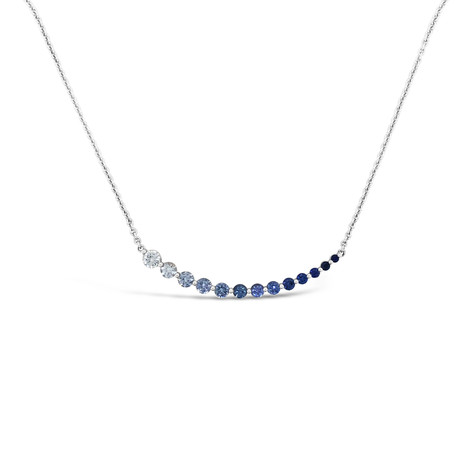 Blue Sapphires Gradient Necklace