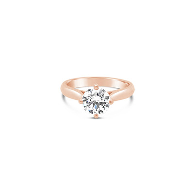 Solitaire Diamond Rose Gold Ring