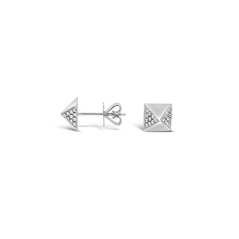 White Gold Rockstuds Earrings