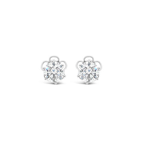 GIA 1.80cts D color Diamond Earrings