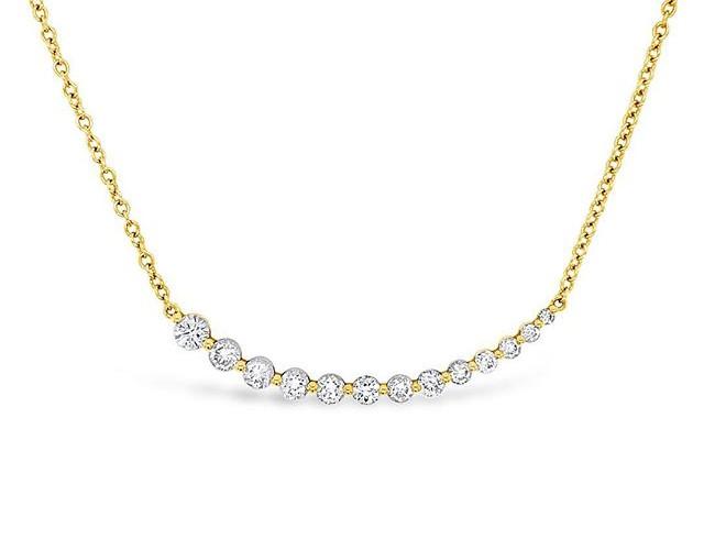 Yellow gold diamond necklace _#diamondne