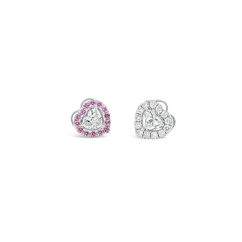 Heart Brilliant Diamond Earrings