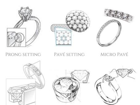 【首飾入門篇】鑽石的鑲嵌款式大不同!