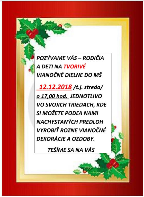 Vianočné dielne