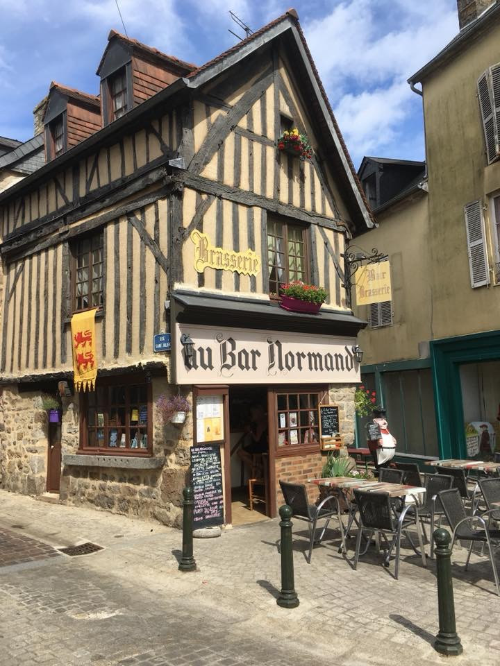 Famous bar in Domfront Normandy