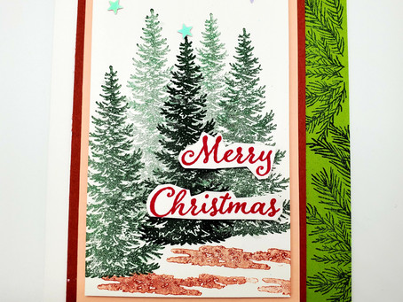 Card layout you can use with any stamp set! Christmas Card!