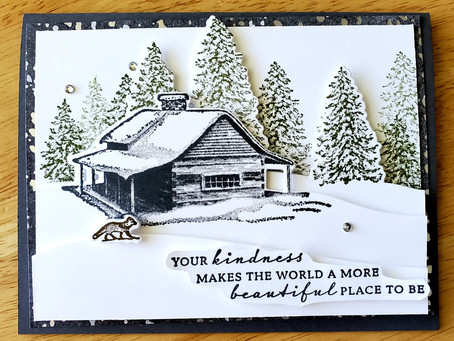 Peaceful Cabin Christmas or Winter Card!