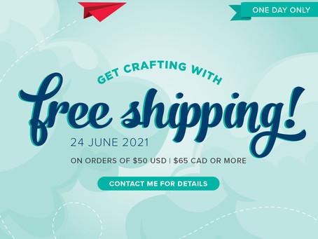 FREE SHIPPING-24 HOURS ONLY-JUNE 24