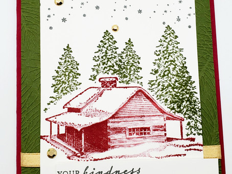 Learn a Masking Technique using Peaceful Cabin Stamp Set!