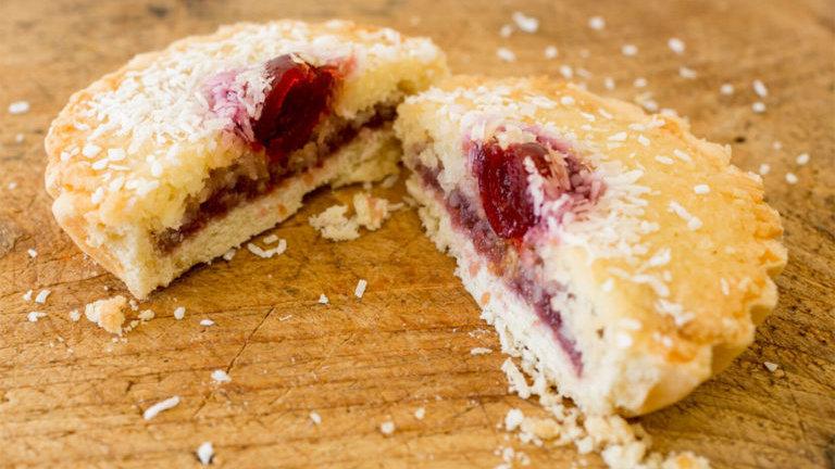 Coconut and Raspberry Tart