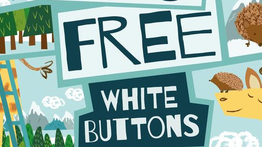 Moo-Free White Chocolate buttons 25g