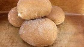 4 x Large White Baps - GF/WF/DF/Soya Free/Nut F/High Fibre/Low Fat