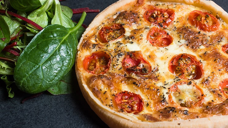 Roasted Tomato & Smoked Cheese Quiche