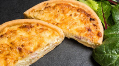 Cheese & Smoked Bacon Quiche
