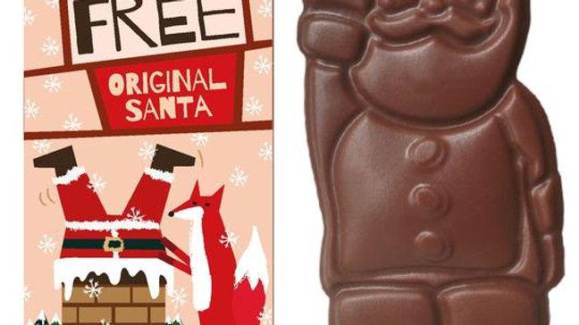 Moo-Free Milk chocolate Santa 35g