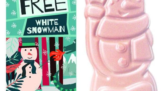 Moo-Free White chocolate Snowman 35g