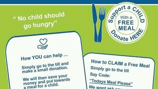 Please help a child to get a free meal through the Christmas holidays