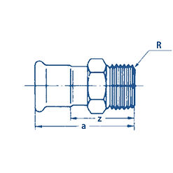 Straight Adaptor with BSP tapered thread