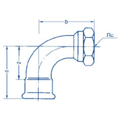 90 Elbow Adaptor with BSP tapered thread