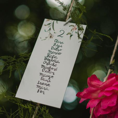 A cada boda su tipo de letra