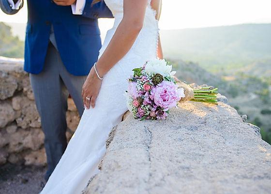 Pareja sesión de fotos el día de su boda organizada por Dile que Sí