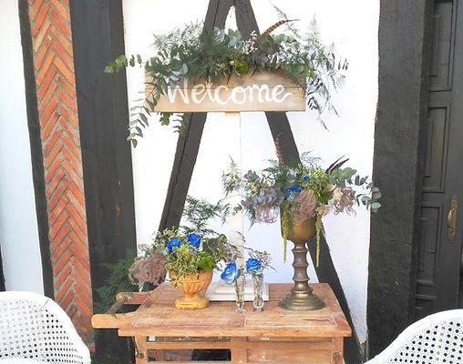 Corner de bienvenida boda organizada por Dile que Sí