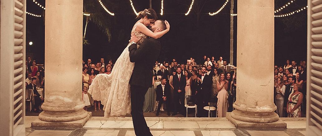 Pareja en el baile boda organizada por Dile que Sí