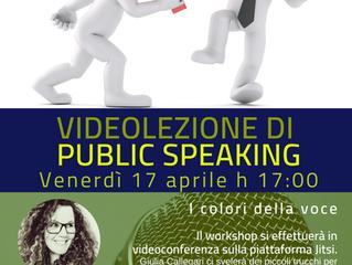 Videolezione di Public Speaking