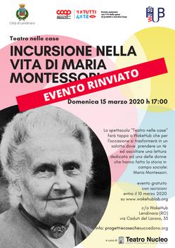 Incursione nella vita di Maria Montessori - rinviato