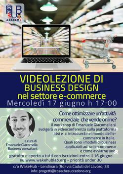 Videolezione di Business Design nel settore e-commerce