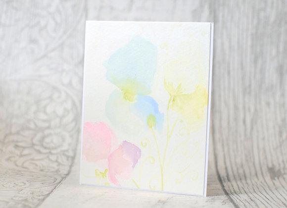 Sweet Peas Original Card