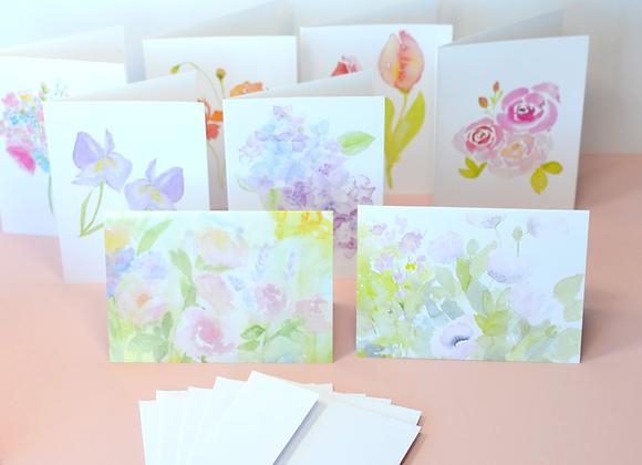 8 Greeting Cards In Envelope Box Set