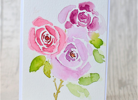 Three Roses Watercolour