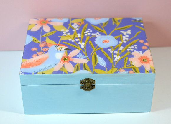 Royal Blue Floral Box