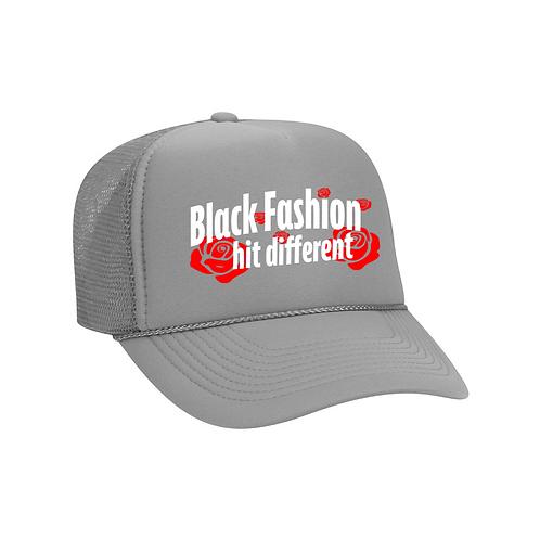 Black Fashion grey hat